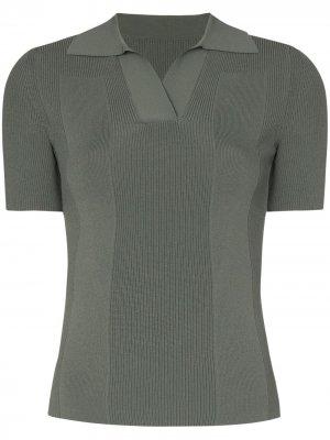 Рубашка поло в рубчик с открытой спиной Jacquemus. Цвет: зеленый