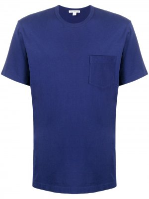 Футболка Supima с карманом James Perse. Цвет: синий