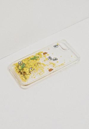 Чехол для iPhone Chiara Ferragni Collection. Цвет: золотой