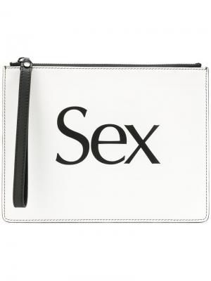 Sex slogan clutch Christopher Kane. Цвет: белый
