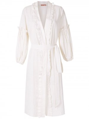 Пляжное платье миди Krista Clube Bossa. Цвет: белый