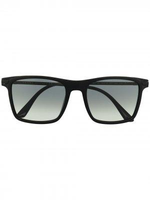Солнцезащитные очки в квадратной оправе с логотипом Prada Eyewear. Цвет: черный