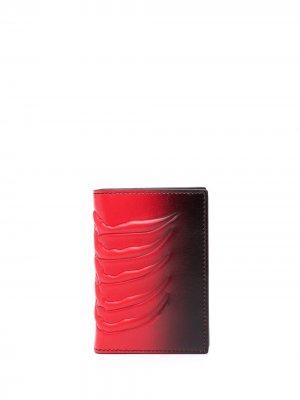 Карманный органайзер Alexander McQueen. Цвет: красный