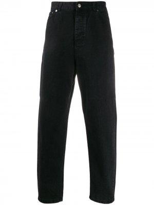 Зауженные джинсы с завышенной талией Tom Wood. Цвет: черный