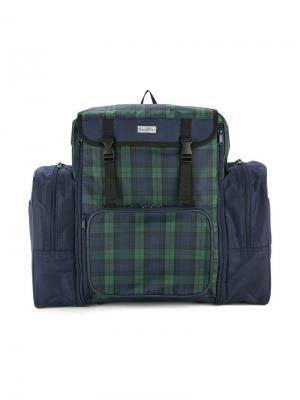 Рюкзак с клетчатыми панелями Familiar. Цвет: синий