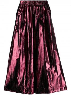 Укороченные брюки широкого кроя Forte. Цвет: розовый