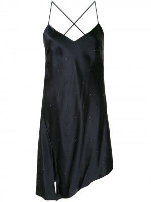Коктейльное платье со стразами Michelle Mason. Цвет: черный
