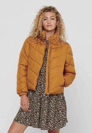 Куртка утепленная Jacqueline de Yong. Цвет: желтый