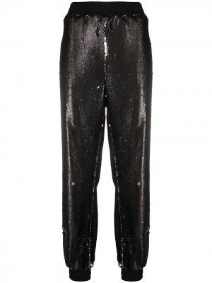 Спортивные брюки с пайетками Styland. Цвет: черный