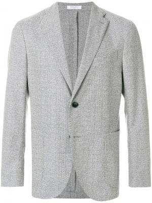Текстурный пиджак Boglioli. Цвет: белый
