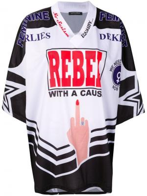 Футболка джерси Feminist Rebel American Marlies Dekkers. Цвет: черный