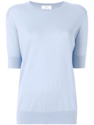 Джемпер с укороченными рукавами Allude. Цвет: синий