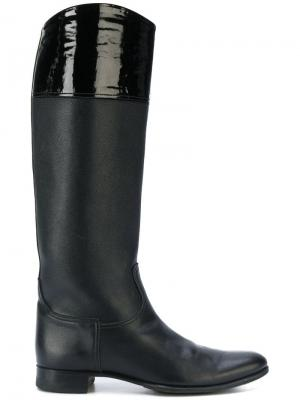 Сапоги Hermès Vintage. Цвет: черный