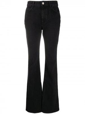 Широкие джинсы средней посадки The Attico. Цвет: черный
