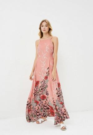 Платье Free People. Цвет: розовый