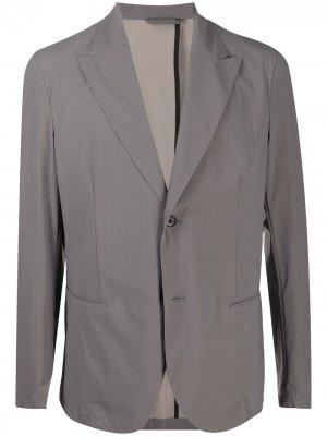 Однобортный пиджак с узором в елочку Hydrogen. Цвет: нейтральные цвета