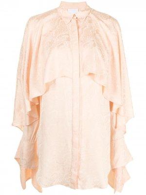 Блузка Stanley с драпировкой Acler. Цвет: оранжевый