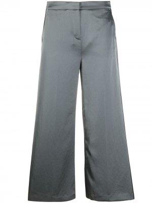 Укороченные брюки широкого кроя Karl Lagerfeld. Цвет: серый