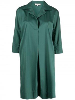 Платье-рубашка прямого кроя Antonelli. Цвет: зеленый
