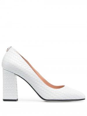 Фактурные туфли Pollini. Цвет: серый