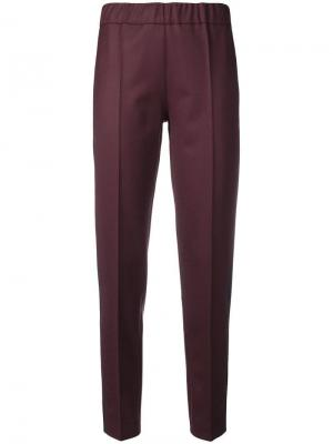 Slim-fit trousers D.Exterior. Цвет: красный