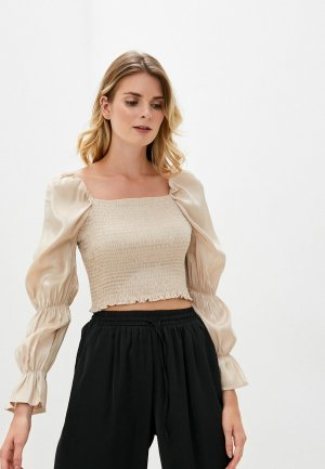 Блуза B.Style. Цвет: бежевый