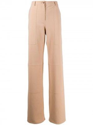 Длинные брюки широкого кроя Nina Ricci. Цвет: коричневый