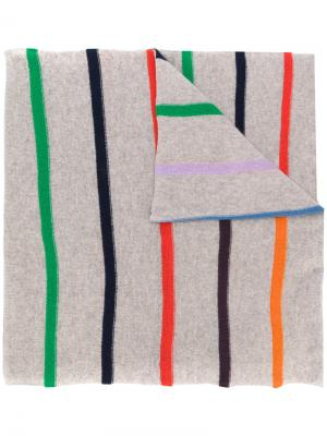 Striped scarf Allude. Цвет: телесный
