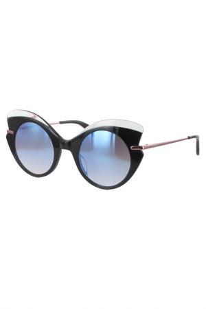 Очки солнцезащитные Byblos. Цвет: черный