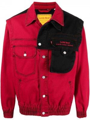 Джинсовая куртка из коллаборации с Levis Feng Chen Wang. Цвет: красный