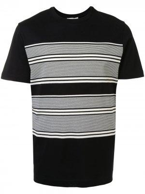 Полосатая футболка с круглым вырезом Cerruti 1881. Цвет: черный