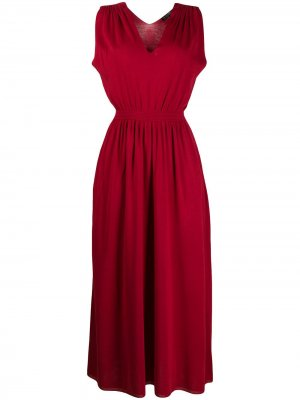 Платье макси со складками Loro Piana. Цвет: красный