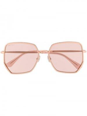 Солнцезащитные очки Aline Jimmy Choo Eyewear. Цвет: розовый