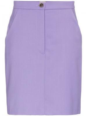 Мини-юбка с завышенной талией Natasha Zinko. Цвет: фиолетовый
