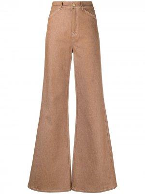Расклешенные джинсы с завышенной талией Dorothee Schumacher. Цвет: коричневый