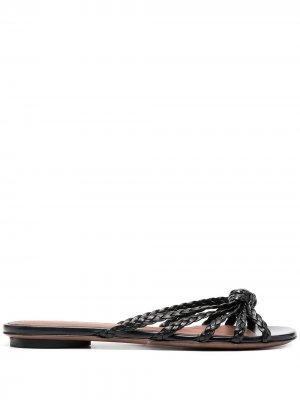 LAutre Chose плетеные сандалии L'Autre. Цвет: черный