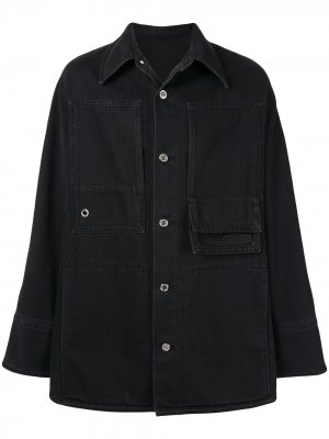 Джинсовая куртка-рубашка Wooyoungmi. Цвет: черный