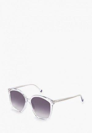 Очки солнцезащитные Tommy Hilfiger. Цвет: прозрачный