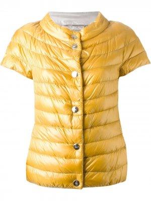 Дутая куртка с короткими рукавами Herno. Цвет: желтый