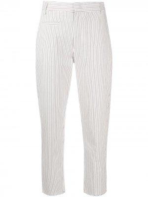 Укороченные брюки в тонкую полоску Dondup. Цвет: белый