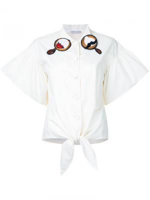 Рубашка с вышивкой на воротнике Tsumori Chisato. Цвет: белый
