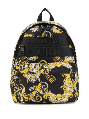 Рюкзак с принтом Logo Baroque Versace Jeans Couture. Цвет: черный