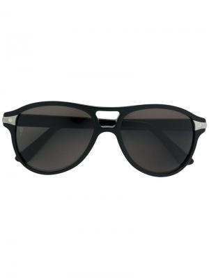 Солнцезащитные очки Santos de Cartier. Цвет: черный