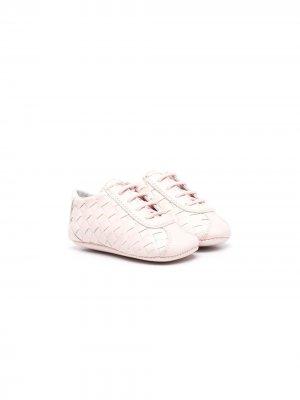 Плетеные кроссовки Gallucci Kids. Цвет: розовый