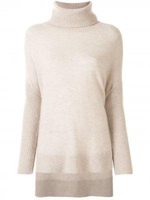 Удлиненный свитер Alice+Olivia. Цвет: нейтральные цвета