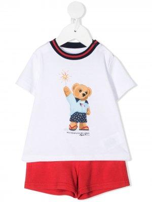 Пижама Teddy Bear Ralph Lauren Kids. Цвет: белый