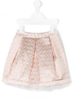 Жаккардовая юбка Paesaggino. Цвет: розовый