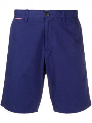 Твиловые шорты Tommy Hilfiger. Цвет: синий