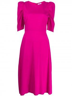 Платье со сборками на рукавах P.A.R.O.S.H.. Цвет: розовый