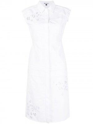 Платье с вышивкой Krizia. Цвет: белый